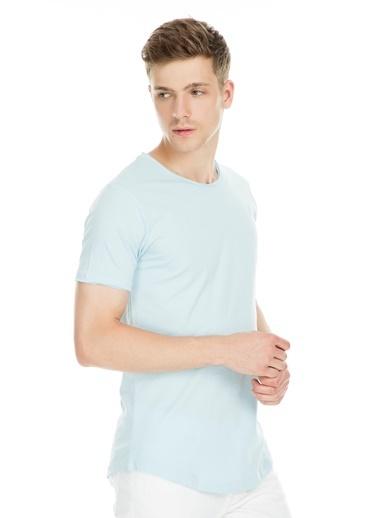 Manche Tişört Mavi